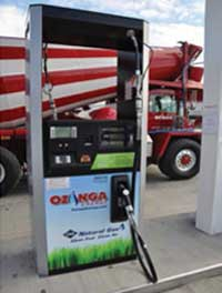 Compressed natural gas is sold and taxed in gasoline or diesel gallon equivalent units.
