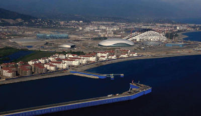 Sochi Winter Olympics Aerial view