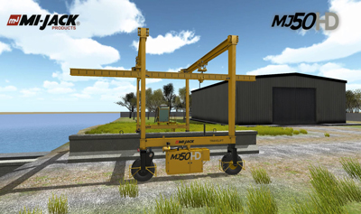 Mi-Jack programs Travelift crane operator training simulator