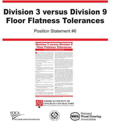 Bricklayers Union, flooring groups recognize Concrete Contractors' slab quality guideline