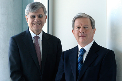 CEO Fernando Gonzalez (left) and Chairman Rogelio Zambrano bring to their new posts a combined 50-plus years of Cemex board and executive team experience.