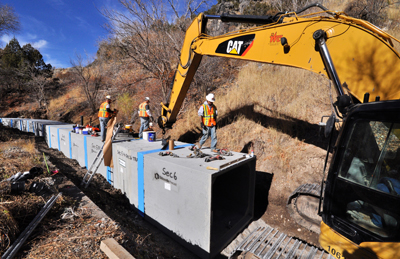 Oldcastle Precast channels safety, water conservation through nearly two miles of pipe, custom box culvert