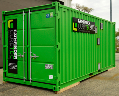 The container affords producers a unique, portable solution to pinpointing the most effective steam or hot air curing regimen for concrete masonry and precast.