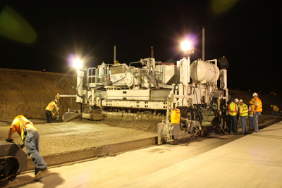 Crews deploy real-time pavement smoothness technology on Texas' DFW Connector, a design-build project of Northgate Constructors, Kiewit-Zachry joint venture.