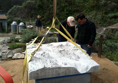 Central Concrete Supply Co., the northern California business of U.S. Concrete Inc., has left its signature on a finely detailed, 3D model of the Point Lobos State Marine Reserve, located south of Monterey along the central coast of California.