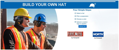 Honeywell enables customers and distributors to fully customize hard hats from the complete Fibre-Metal and North brand offerings.