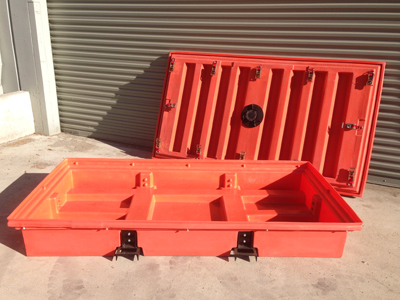 The Porta-Pit is available in standard 1.5-yd. and 0.5-yd. sizes, 40-in. and 12-in. high, respectively.