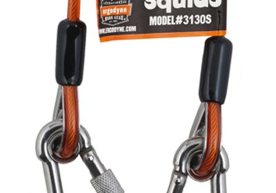 Through a compact system that keeps lanyard length close to the anchoring point, the new Squids 3130 coiled model reduce snags and trip hazards.