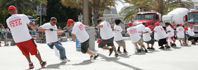 SPECIAL OLYMPICS TEAM FINISHES FIRST IN 52-TON TRUCK PULL