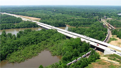 DBIA officials cite the inherent value design-build methods bring to projects across the construction sectors, including transportation. The Institute honored the Yadkin River Bridge—a 2,900-ft., twin structure along the Interstate 85, Charlotte–Greensboro, N.C., corridor—with a 2014 National Award of Merit. Flatiron Construction Corp. led the design-build team credited with delivering the North Carolina Department of Transportation project under its $136 million budget.
