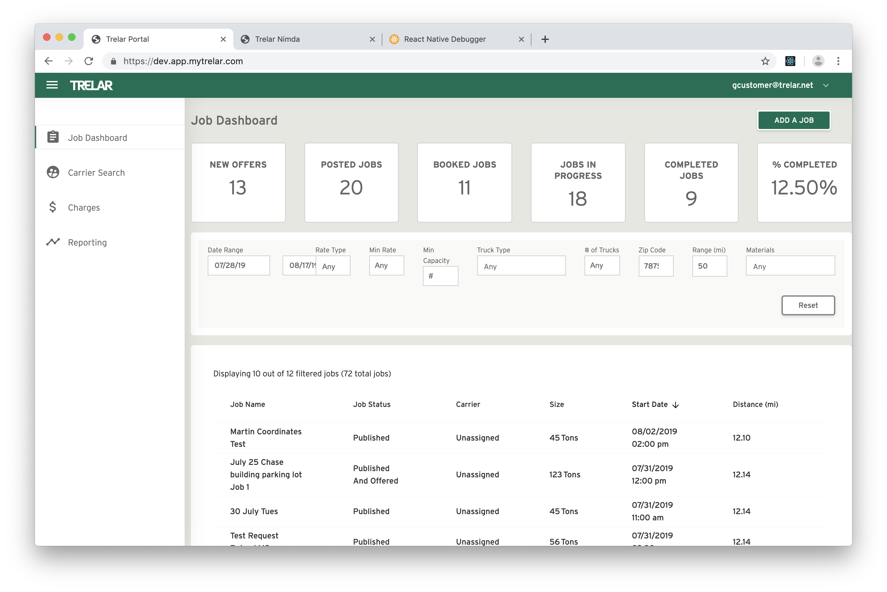 Customer JobDashboard 01 1